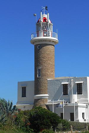 Uruguay, Montevideo, Punta Carretas´ neighborhood, lighthouse